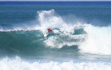 Jessi Mendes placed second in Heat 14 of Round Two at the Hawaiian Pro at Haleiwa, Hawaii today.