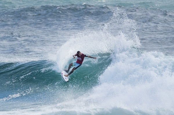 Former event winner Filipe Toledo (BRA) advances to Round 4 of the Quiksilver Pro Gold Coast after winning Heat 4 of Round 3 at Snapper Rocks, Gold Coast, QLD, Australia.