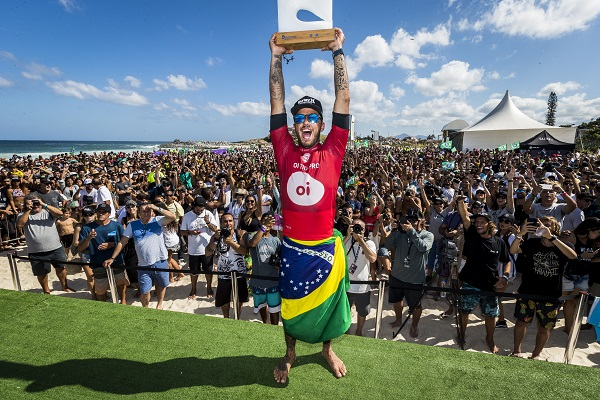Filipe Toledo (BRA) Winner of the OI Rio Pro 2018 in Barrinha, Saquarema, Brazil